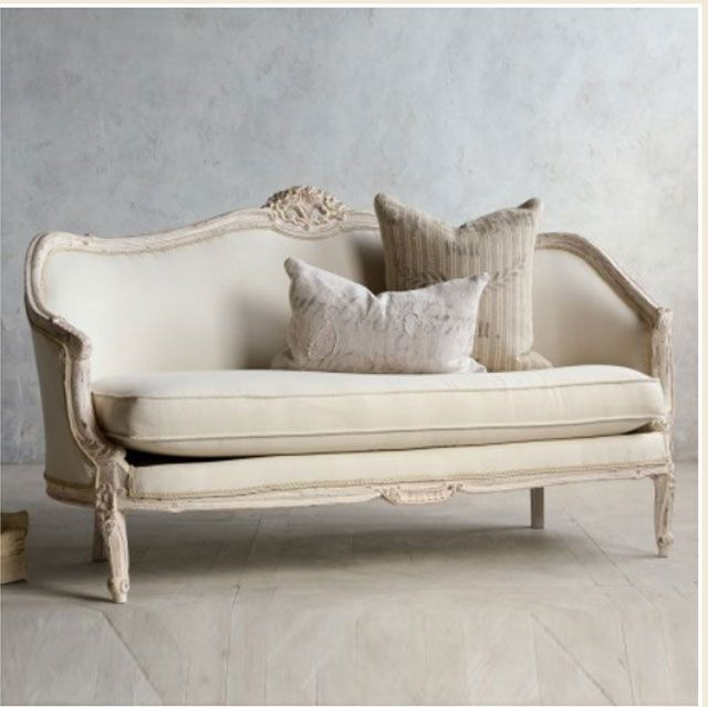 Vintage Pink White Oval Canape In Louis Xv Style French Pertaining To French Seamed Sectional Sofas Oblong Mustard (View 6 of 15)