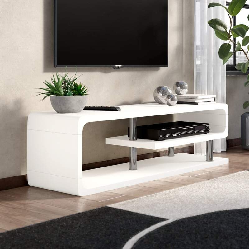 """Wade Logan® Luther Tv Stand For Tvs Up To 60"""" & Reviews With Logan Tv Stands (View 3 of 15)"""