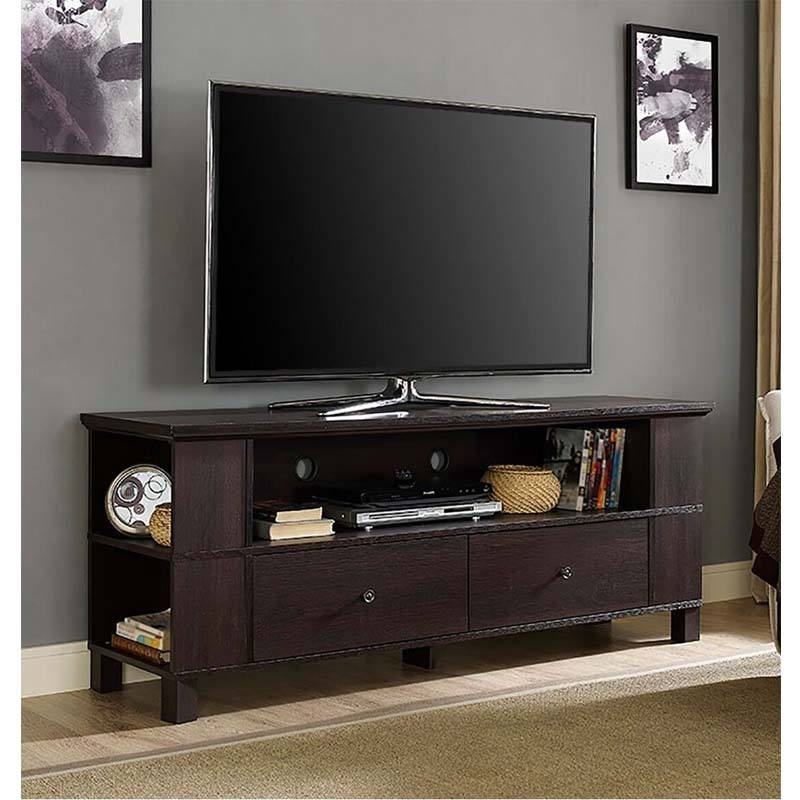 """Walker Edison 65 Inch Tv Stand With Multimedia Storage In Grenier Tv Stands For Tvs Up To 65"""" (View 14 of 15)"""