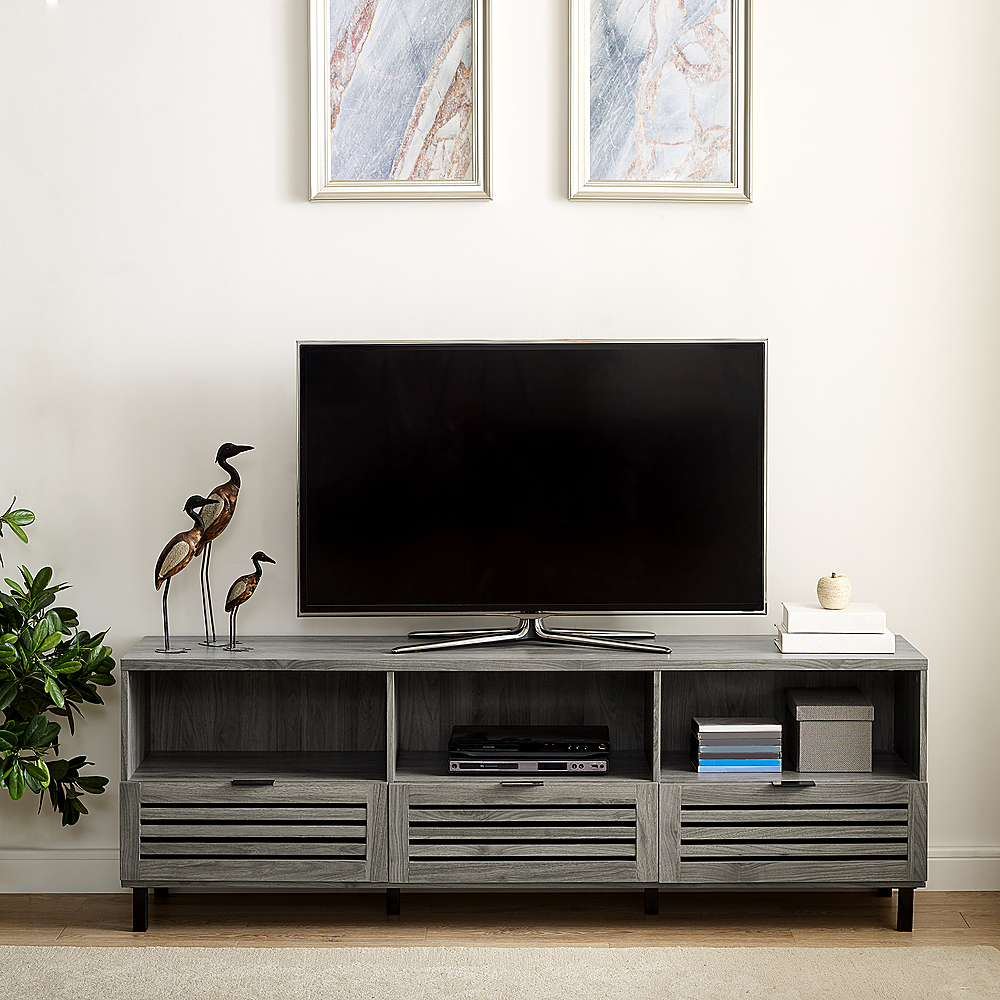 Walker Edison Jackson Tv Stand Cabinet For Most Flat Panel Pertaining To Corona Grey Flat Screen Tv Unit Stands (View 10 of 15)