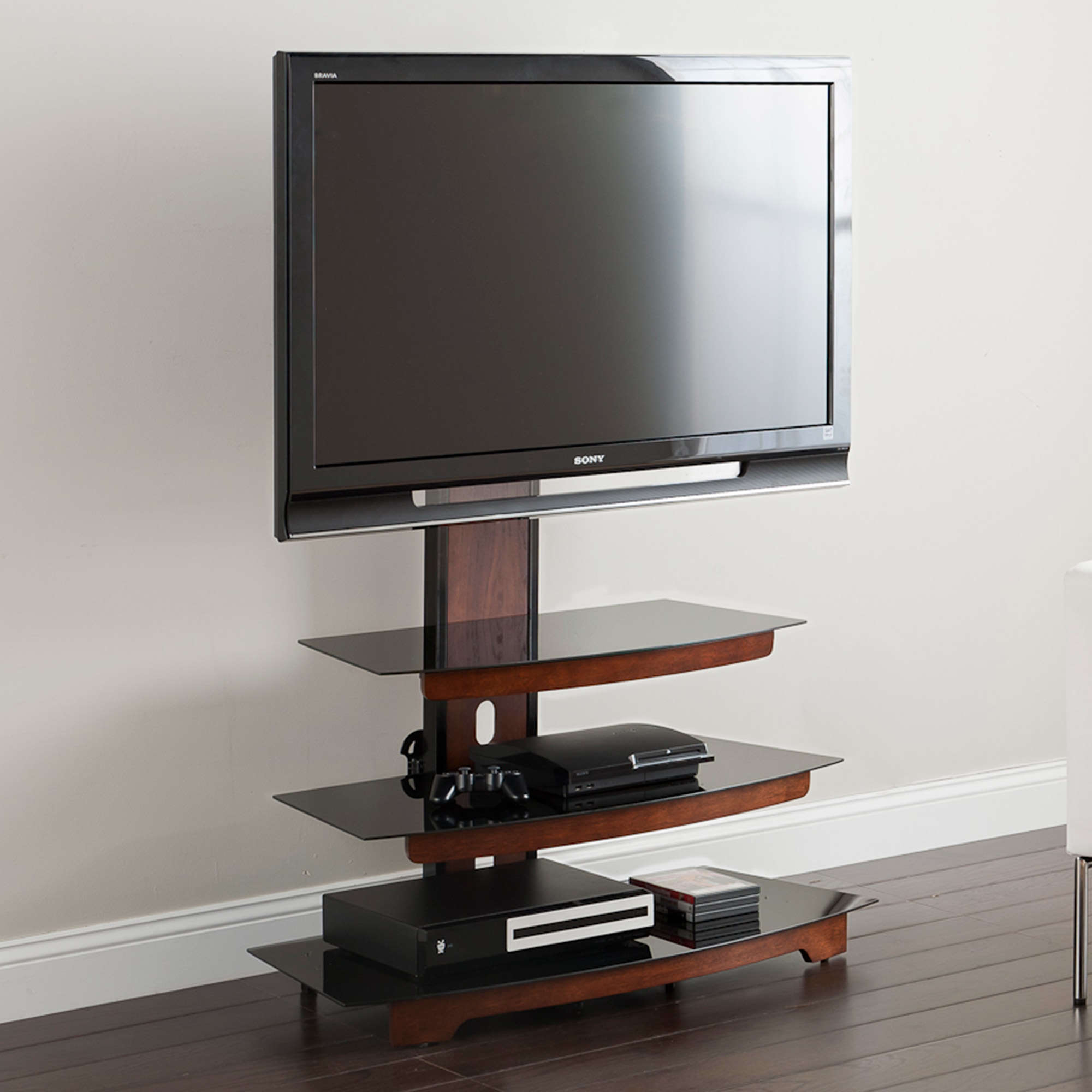 """Whalen 3 Tier Television Stand For Tvs Up To 50"""", Perfect In Aaliyah Floating Tv Stands For Tvs Up To 50"""" (View 5 of 15)"""