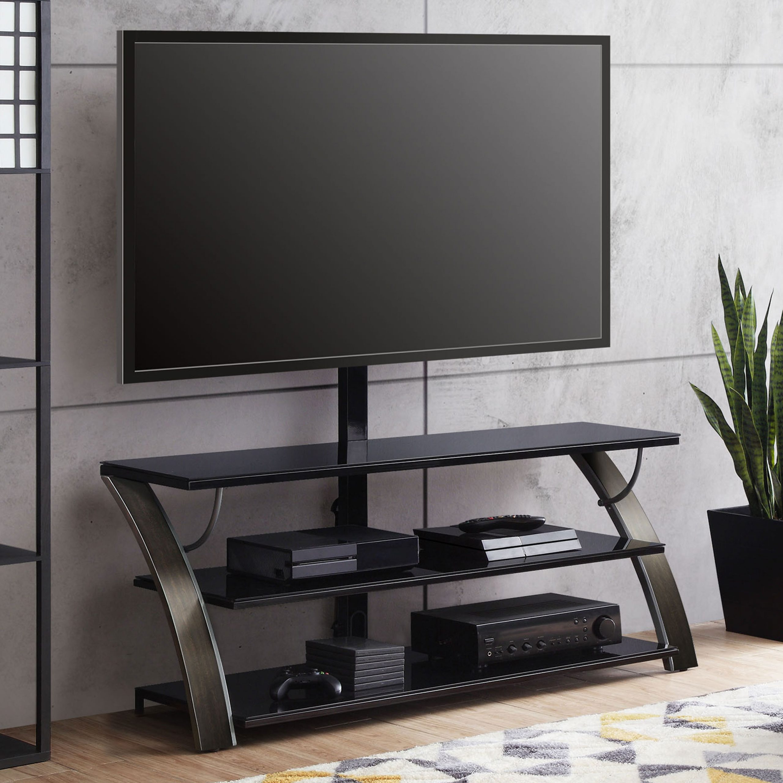 Whalen Payton 3 In 1 Flat Panel Tv Stand For Tvs Up To 65 In Easel Tv Stands For Flat Screens (View 4 of 15)