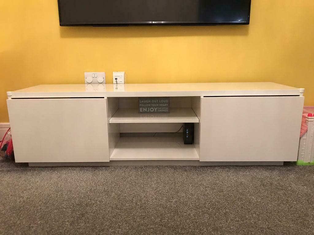 White Gloss Tv Stand | In Baillieston, Glasgow | Gumtree For White Gloss Oval Tv Stands (View 4 of 15)