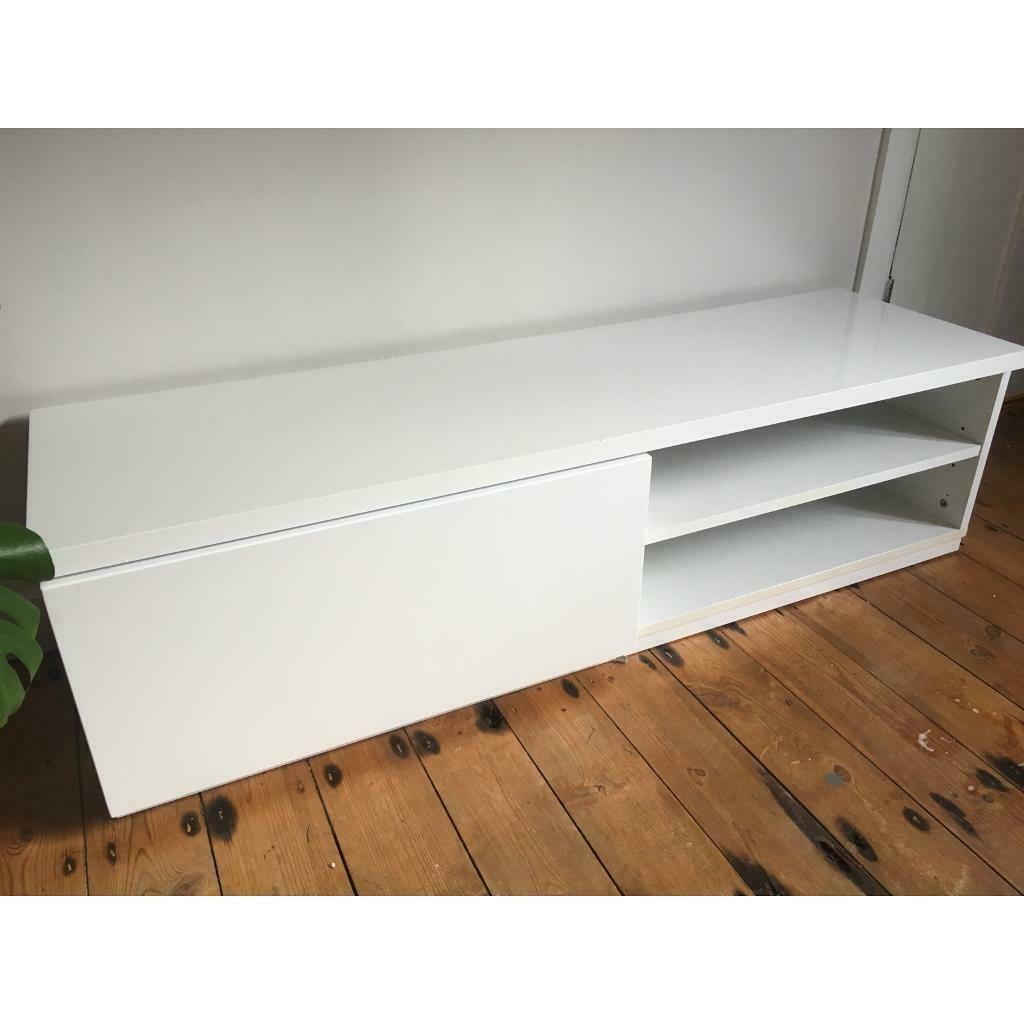 White Gloss Tv Stand | In Costessey, Norfolk | Gumtree With Regard To White Gloss Oval Tv Stands (View 11 of 15)