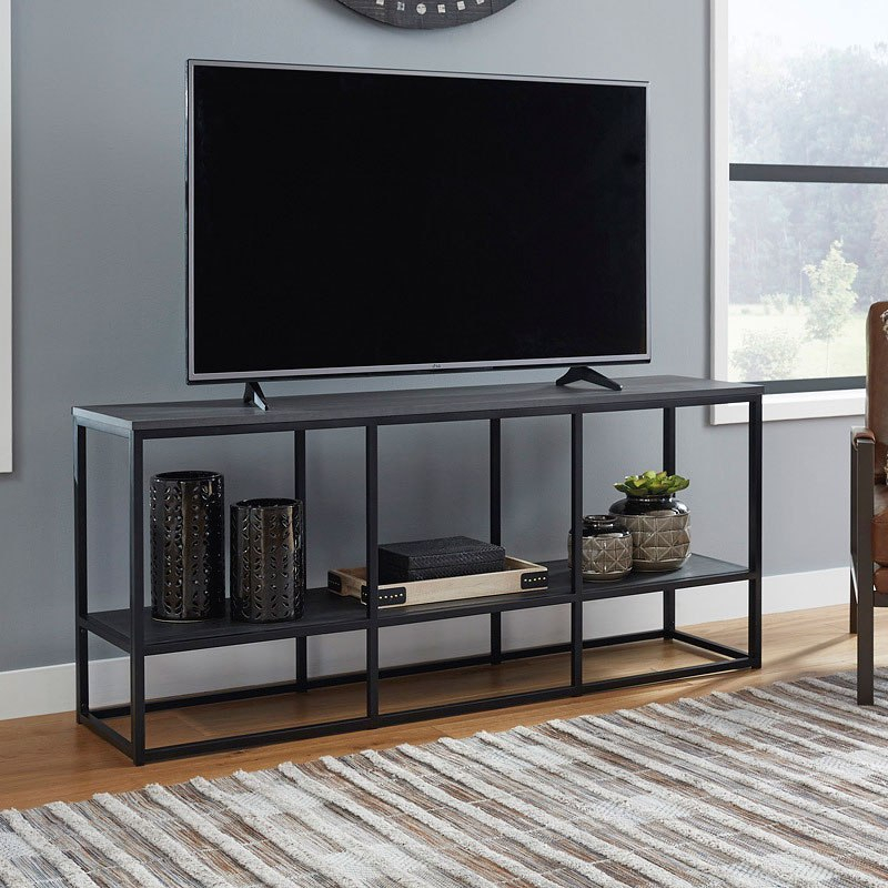 """Yarlow 65 Inch Tv Stand Signature Design   Furniture Cart In Grenier Tv Stands For Tvs Up To 65"""" (View 4 of 15)"""