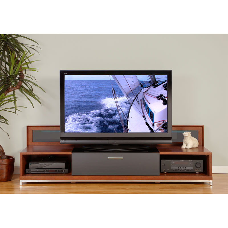 Plateau Valencia Series Backlit Modern Wood Tv Stand For For Tv Stands (View 14 of 17)