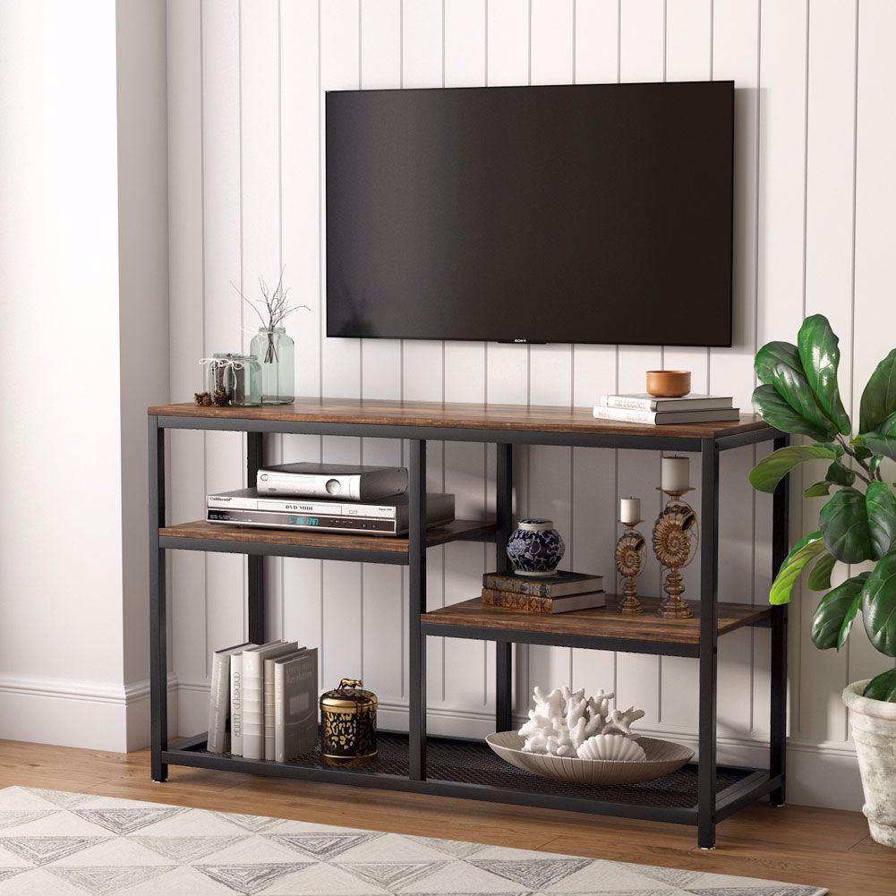 Tribesigns Tv Stand, Vintage Industrial Media Stand With Throughout Priya Tv Stands (View 15 of 17)