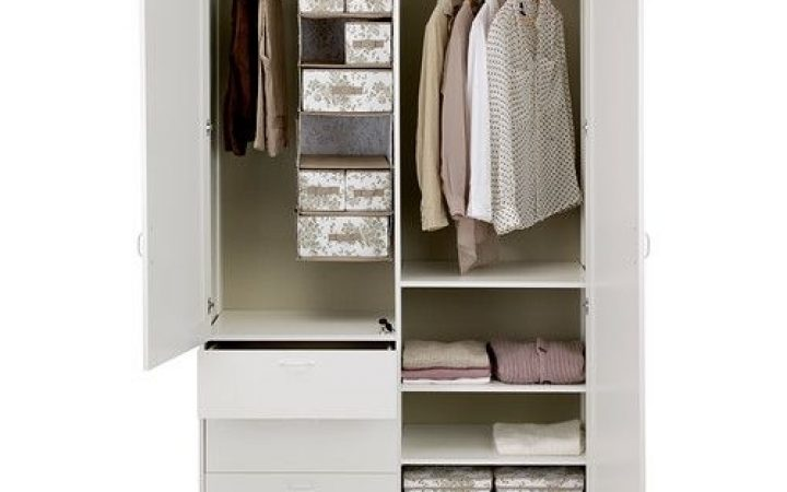 Wardrobe with Shelves and Drawers