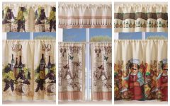 Grace Cinnabar 5-piece Curtain Tier and Swag Sets