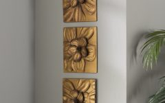 3 Piece Magnolia Brown Panel Wall Decor Sets