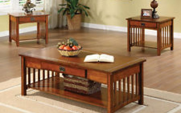 Mission Style Coffee Table Set Home Decor