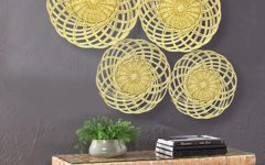 4 Piece Handwoven Wheel Wall Decor Sets