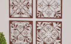 4 Piece Metal Wall Plaque Decor Sets