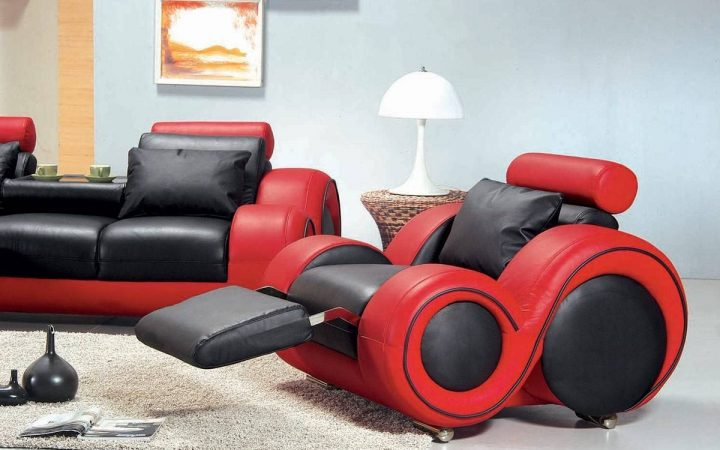 Black and Red Sofa Sets