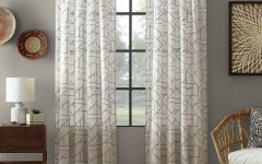 Archaeo Jigsaw Embroidery Linen Blend Curtain Panels