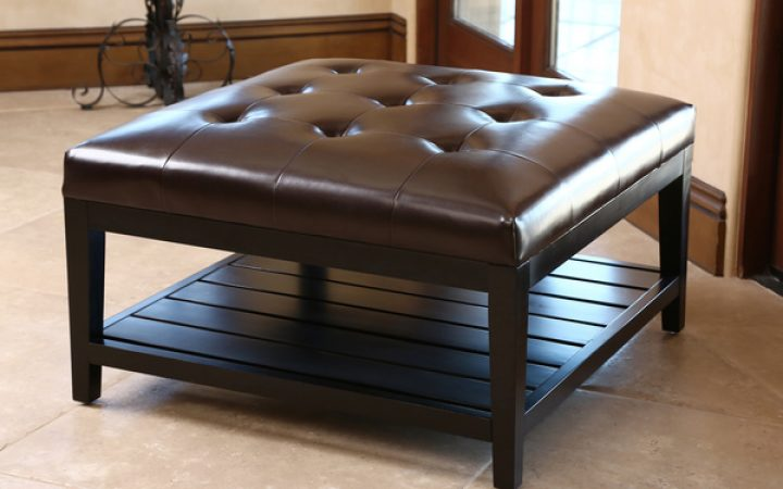 Leather Square Ottoman Coffee Table Best