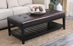 Leather Rectangular Ottoman Coffee Table