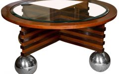 Rustic Meets Elegant in Art Deco Glass Coffee Table