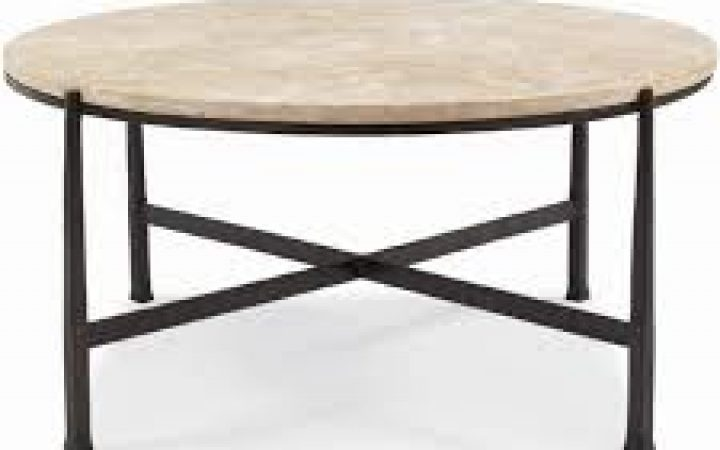 Round Stone Top Coffee Table Decoration