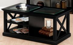 Black Coffee Table With Glass
