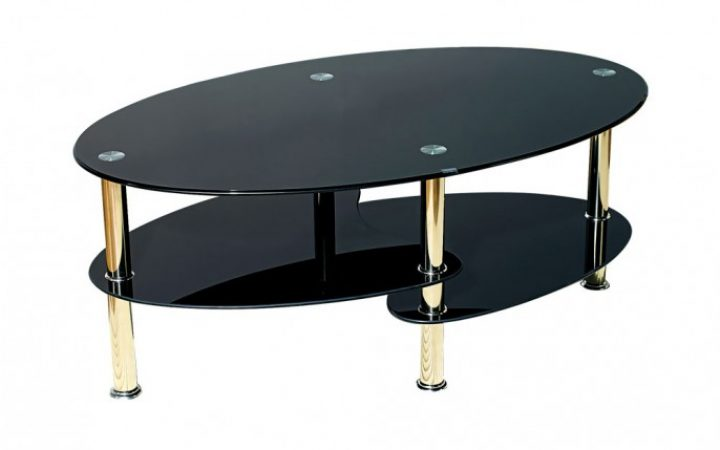 Black Leather Coffee Table Ottoman