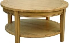 Round Oak Coffee Tables Decoration