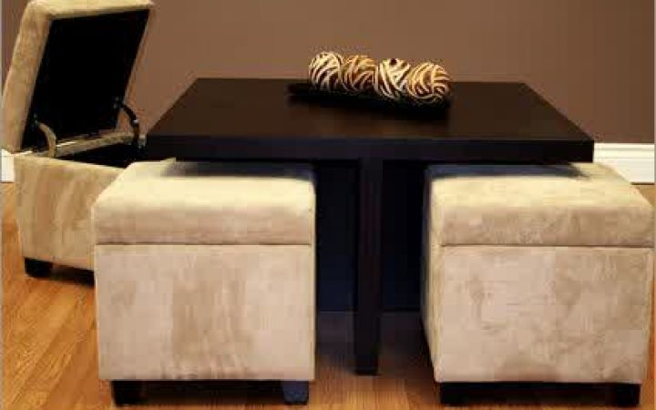 Coffee Table Ottoman Storages