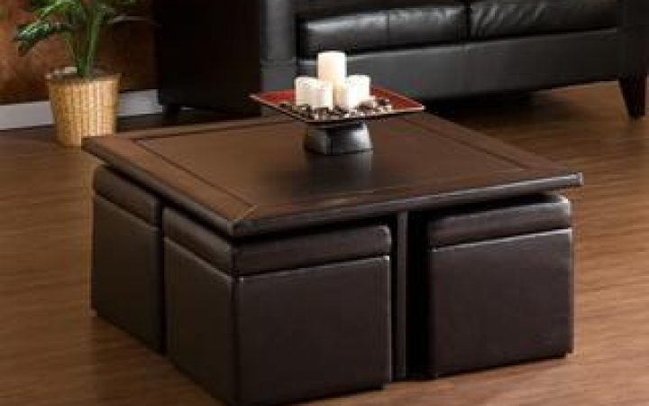Square Ottoman Coffee Tables with Storages