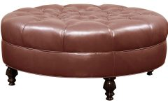 Large Round Storage Ottoman Coffee Tables