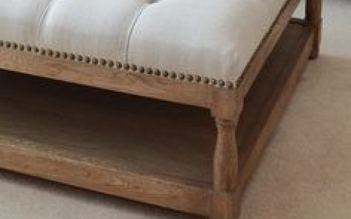 Fabric Ottoman Coffee Table