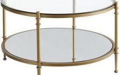 Round Gold Coffee Table Decor
