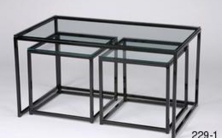 Glass Cube Coffee Tables