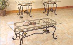 Elegant Glass Metal Coffee Tables