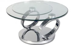 Glass Swivel Coffee Table