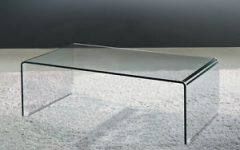 Modern Glass Waterfall Coffee Table