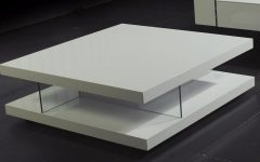 Modern Glass White Coffee Table