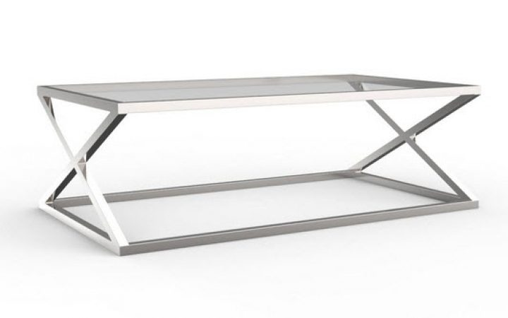 Modern Glass and Chrome Coffee Tables