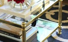 Minimalist Gold And Glass Coffee Table