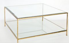 Unique Gold Glass Coffee Table