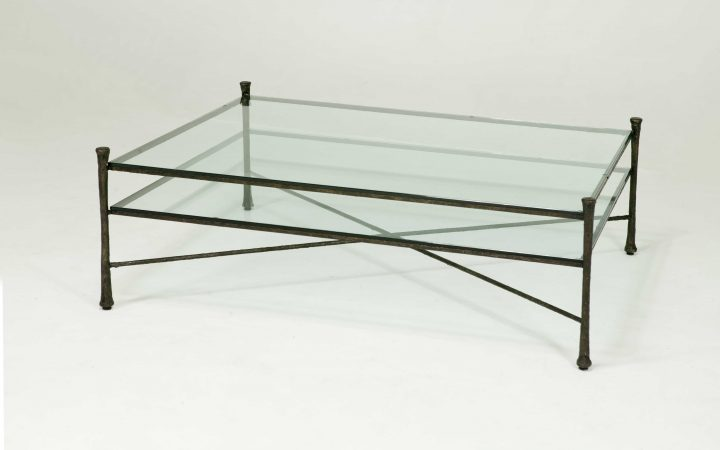 Vintage Iron and Glass Coffee Table