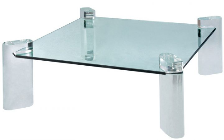 Cotemporary Lucite and Glass Coffee Table
