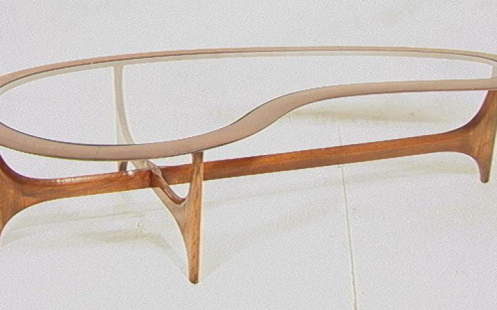 Kidney Shaped Glass Coffee Table