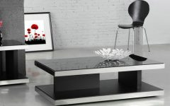 Modern Black Glass Coffee Tables