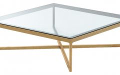 Clear Glass Modern Square Coffee Tables