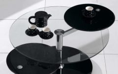 Rotating Glass Coffee Table