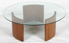 Simple Coffee Table Wood Glass