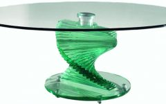 Spiral Glass Coffee Table