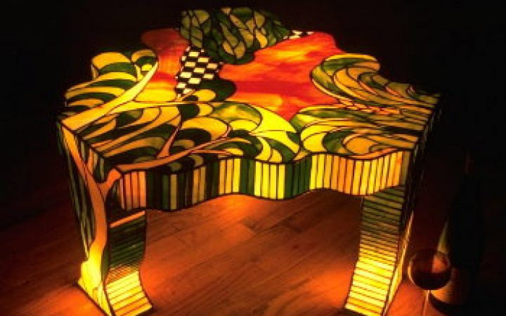 Family Modern Stained Glass Coffee Table