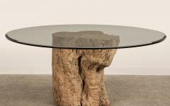 Tree Trunk Coffee Table Glass Top