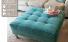 Tufted Fabric Ottoman Coffee Tables
